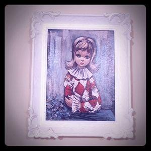 Vintage sad girl print